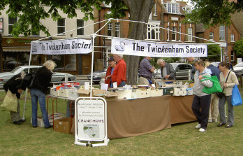 Twick Soc stall with new banners